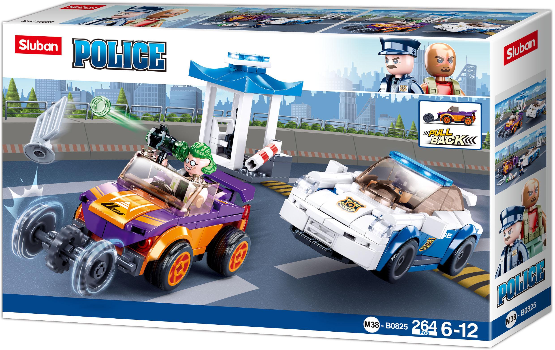 Sluban Policie M38-B0825 Policejní honička s natahovacím autem