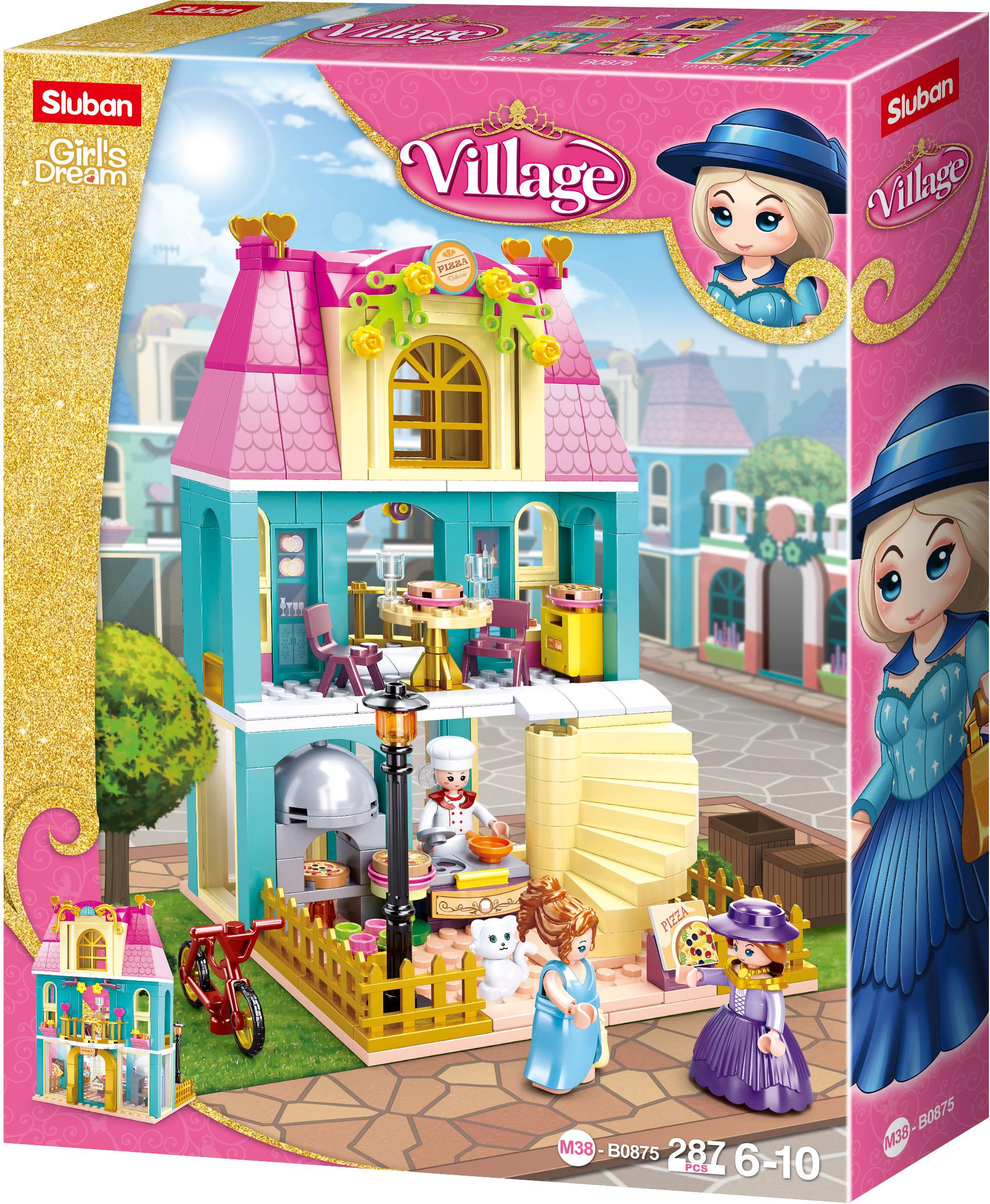 Sluban Girls Dream Village M38-B0875 Dvoupatrový dům s podkrovím