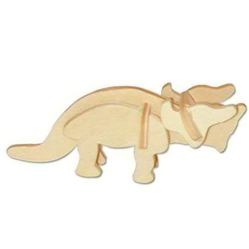Woodcraft Dřevěné 3D puzzle mini skládačka Triceratops