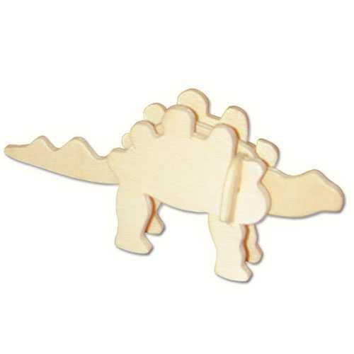 Woodcraft Dřevěné 3D puzzle mini skládačka Stegosaurus