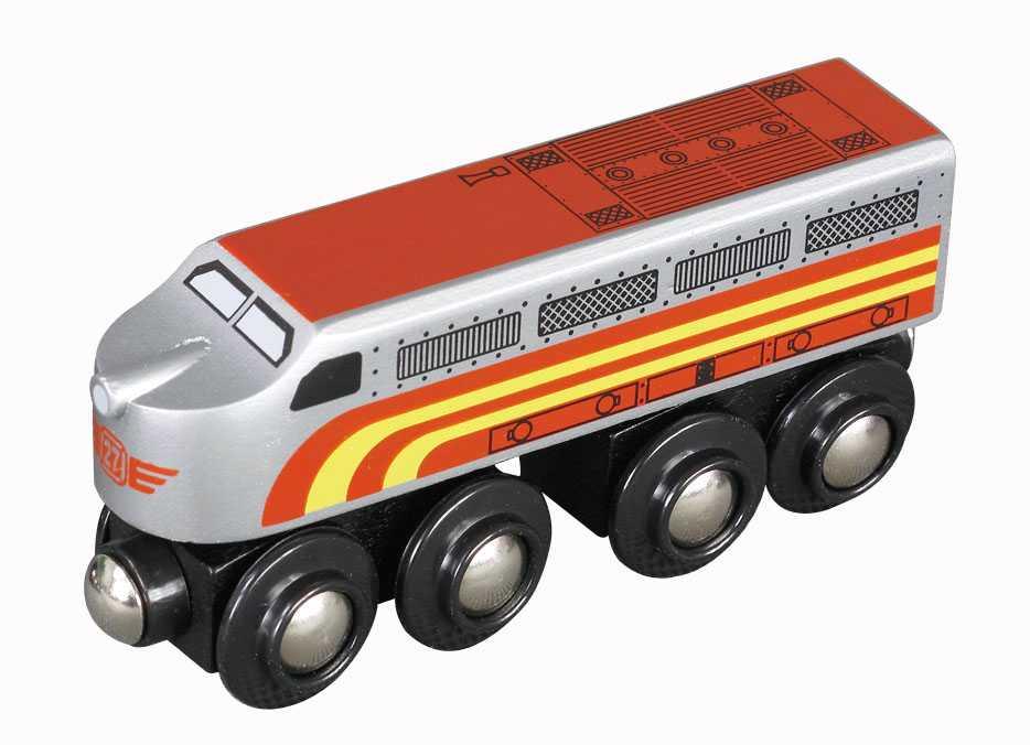 Maxim Dřevěná lokomotiva Santa Fe
