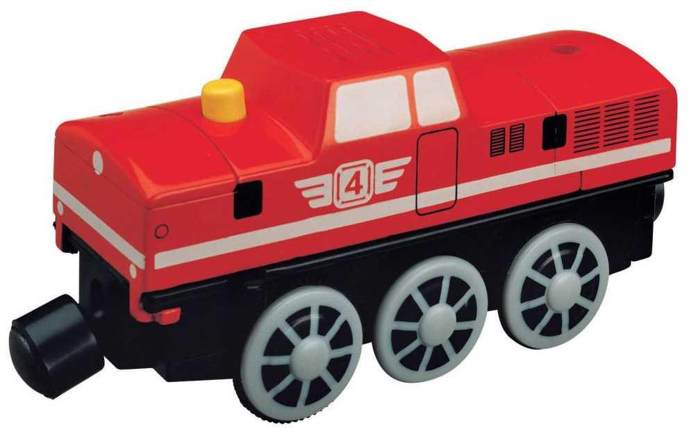 Vláček vláčkodráhy Maxim Elektrická lokomotiva červená 2