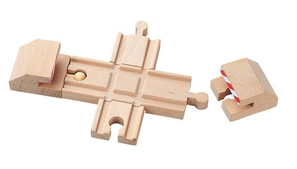 Dřevěné vláčkodráhy Maxim - Křížení + nárazníky