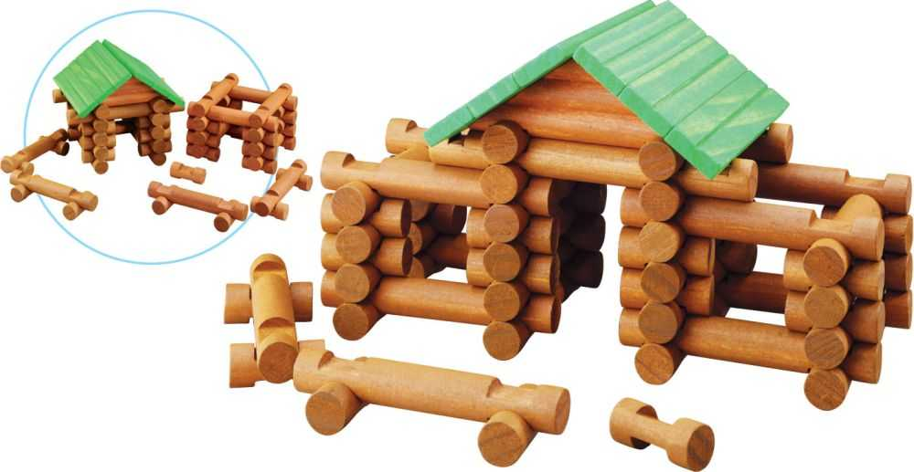 Dřevěná stavebnice Maxim Srubová stavebnice - 77 kusů