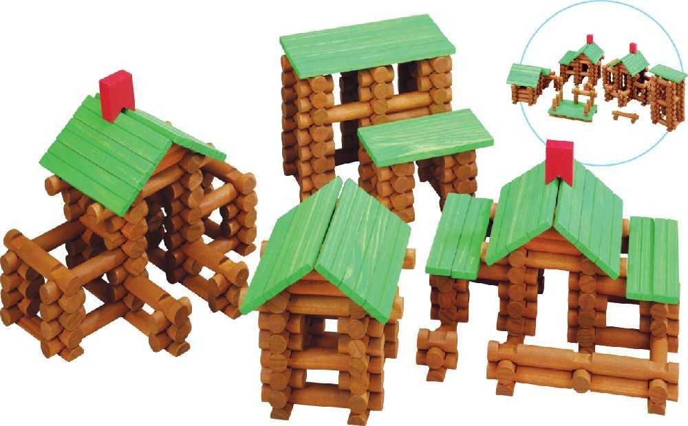 Dřevěná stavebnice Maxim Srubová stavebnice - 162 kusů