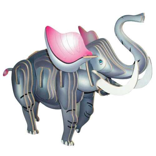 Woodcraft Dřevěné 3D puzzle slon