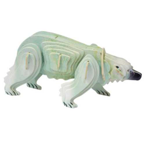 Woodcraft Dřevěné 3D puzzle zvířata lední medvěd