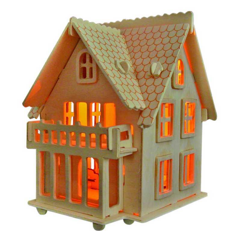 Dřevěné skládačky 3D puzzle -  Vila B - MW102