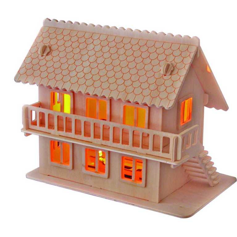 Dřevěné skládačky 3D puzzle -  Vila E - MW105