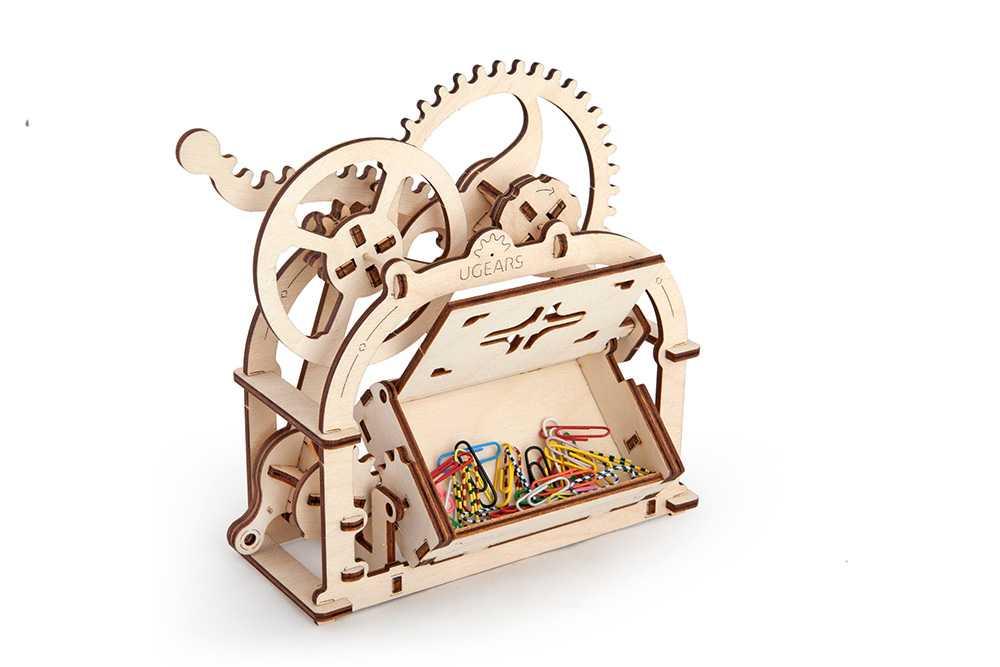 Ugears 3D dřevěné mechanické puzzle Box na vizitky