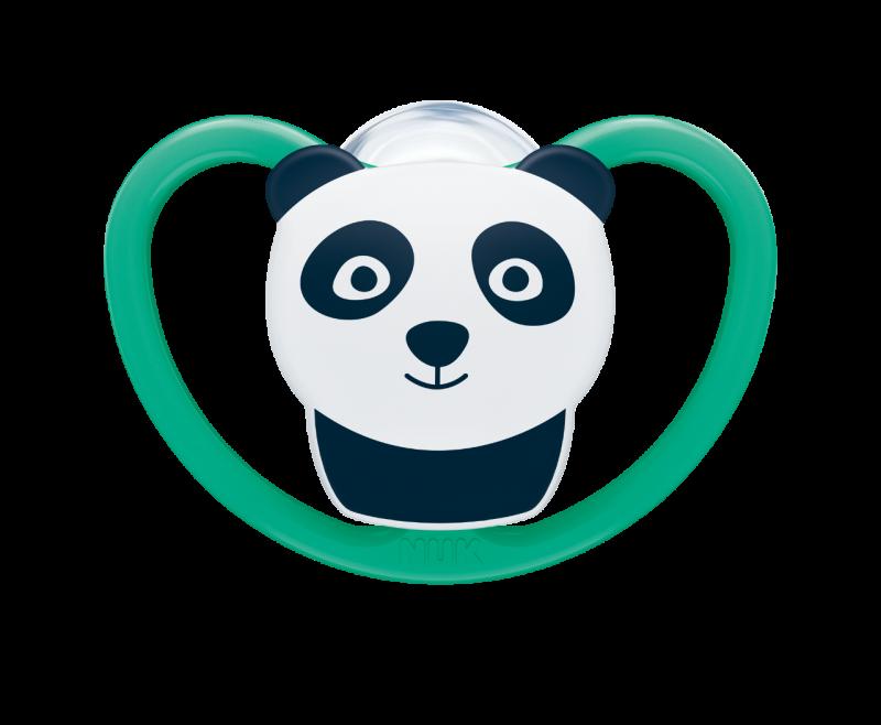 NUK Dudlík silikonový Space V2 (6-18m) 1ks panda