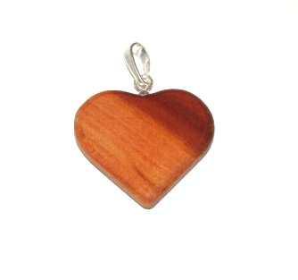 Dřevěný přívěšek srdce střední