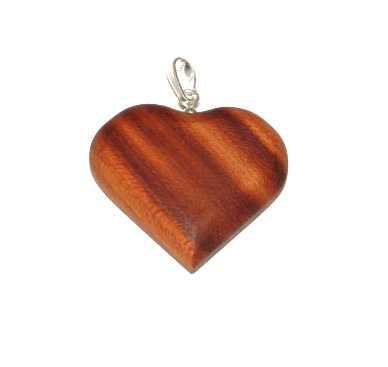Dřevěné přívěšky Srdce velké