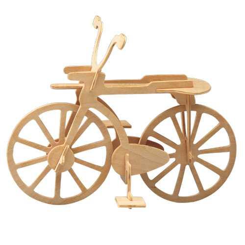 Dřevěné 3D puzzle auta - dřevěná skládačka - Kolo P012