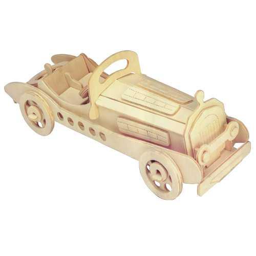 3D dřevěné puzzle skládačka auta - Mercedes SLK P013
