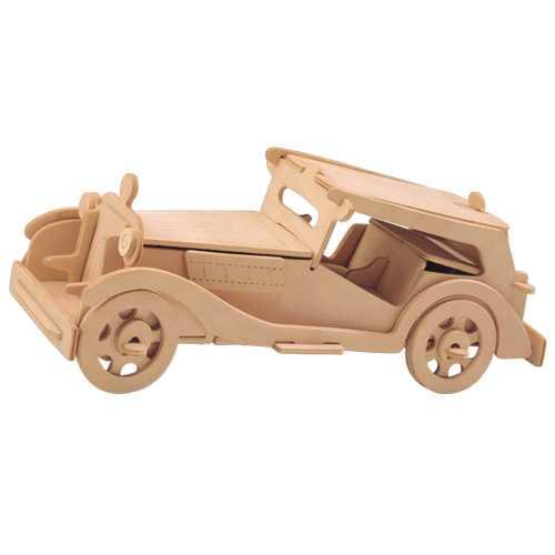 Dřevěné 3D puzzle dřevěná skládačka auta - MG TC P016