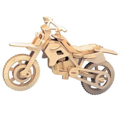 Woodcraft Dřevěné 3D puzzle motorka terénní
