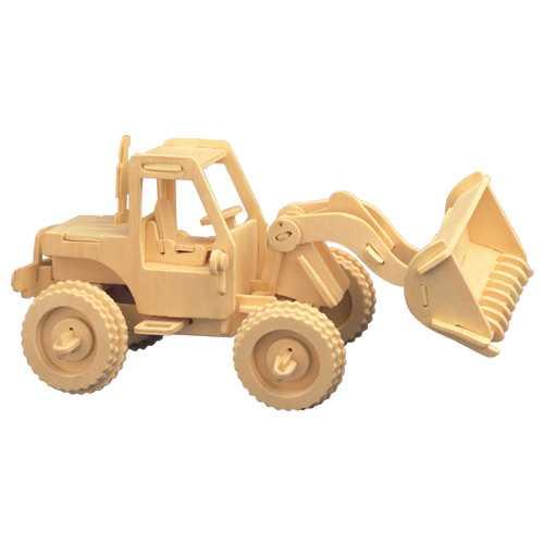 Dřevěné 3D puzzle dřevěná skládačka - Nakladač P029