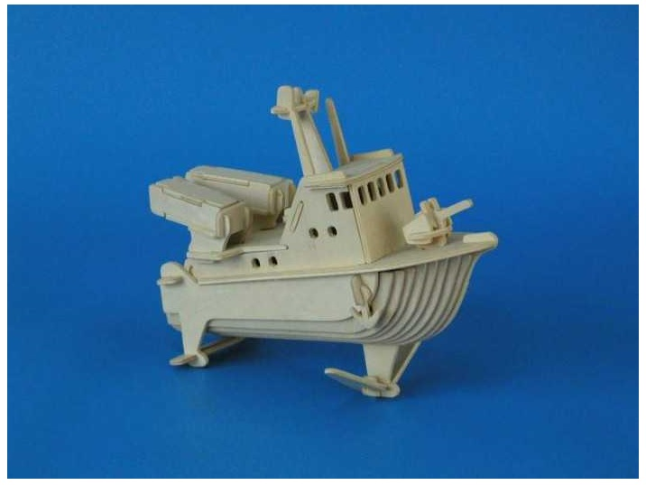 Woodcraft Dřevěné 3D puzzle bojový člun