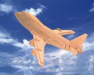 Woodcraft Dřevěné 3D puzzle boeing