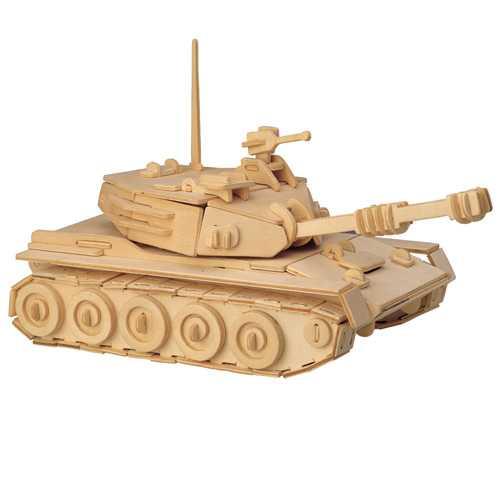 Woodcraft Dřevěné 3D puzzle tank