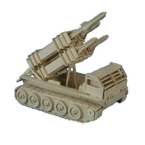 Woodcraft Dřevěné 3D puzzle raketomet