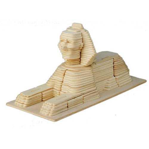 Woodcraft Dřevěné 3D puzzle Sfinga