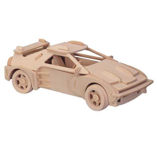 Woodcraft Dřevěné 3D puzzle velké Ferrari