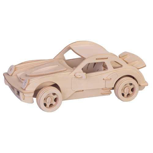 Woodcraft Dřevěné 3D puzzle  malé Porsche