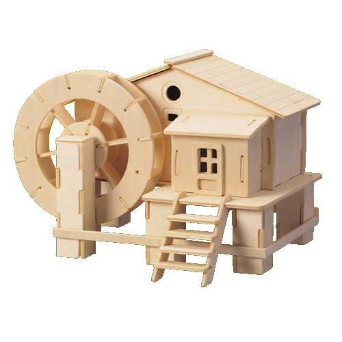 Woodcraft Dřevěné 3D puzzle vodní mlýn