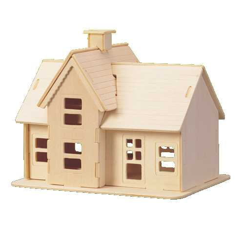 Woodcraft Dřevěné 3D puzzle domeček