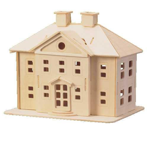 Woodcraft Dřevěné 3D puzzle palác