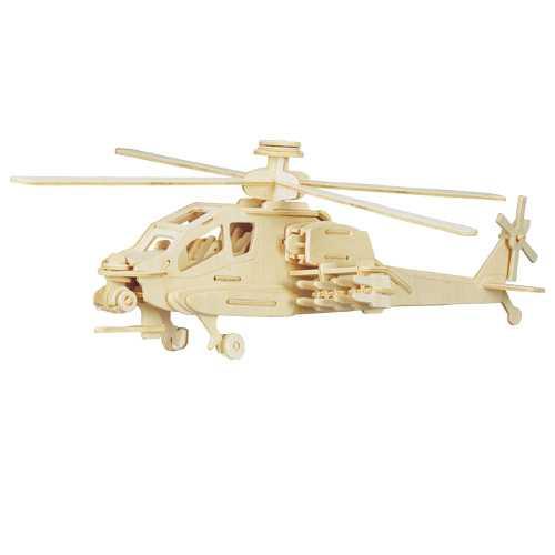 Woodcraft Dřevěné 3D puzzle vrtulník Apache