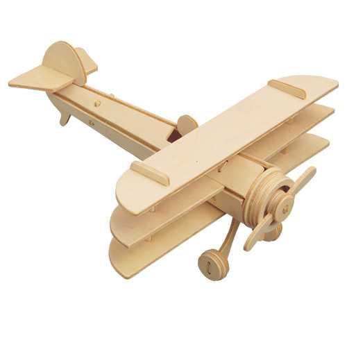 Woodcraft Dřevěné 3D puzzle trojplošník P074
