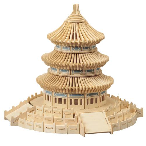 Woodcraft Dřevěné 3D puzzle slavné budovy nebeský chrám