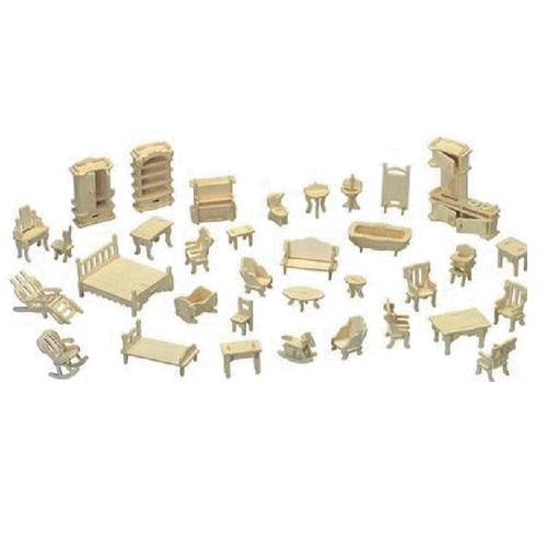 Woodcraft Dřevěné 3D puzzle nábytek set