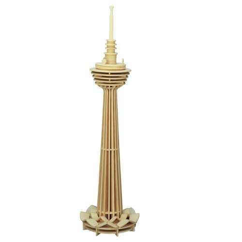 Woodcraft Dřevěné 3D puzzle věž Kuala Lumpur