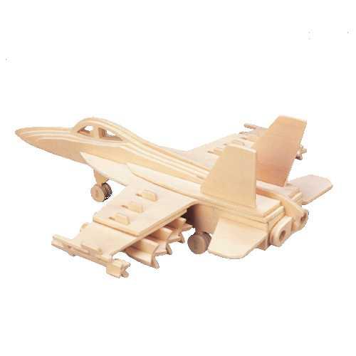 Woodcraft Dřevěné 3D puzzle stíhačka