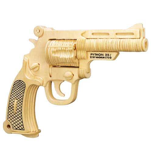 Woodcraft Dřevěné 3D puzzle pistole S&W
