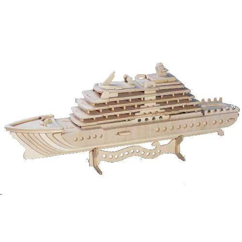 Woodcraft Dřevěné 3D puzzle luxusní jachta