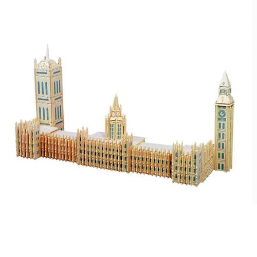 Woodcraft Dřevěné 3D puzzle slavné budovy Big Ben