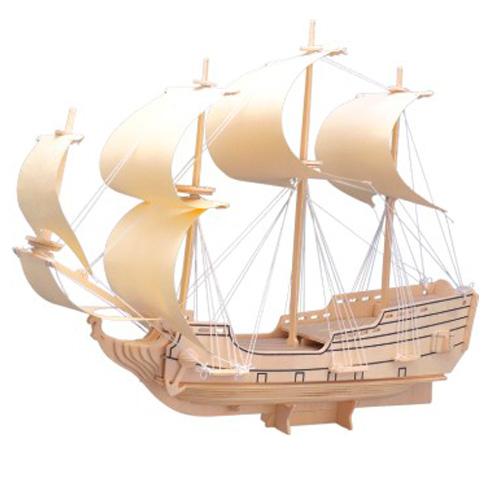 Woodcraft Dřevěné 3D puzzle loď plachetnice orel