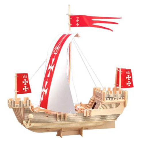 Woodcraft Dřevěné 3D puzzle loď Koga