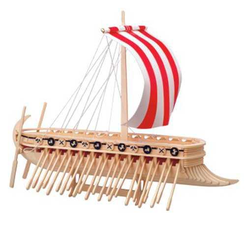 Woodcraft Dřevěné 3D puzzle Fénická Galéra