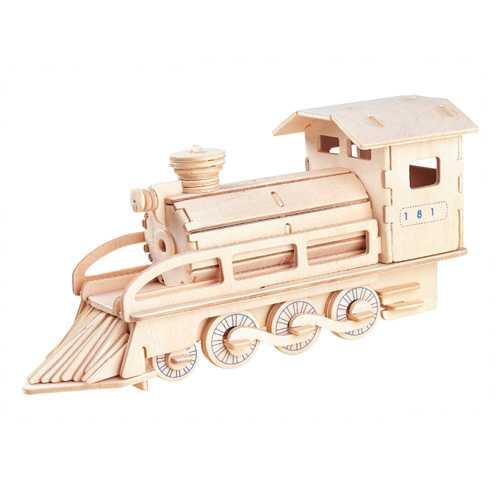 Dřevěné 3D puzzle - dřevěná skládačka - Lokomotiva P134