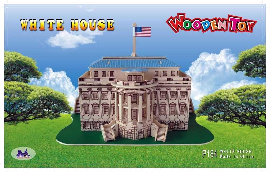 Dřevěné skládačky 3D puzzle - Bílý dům P184