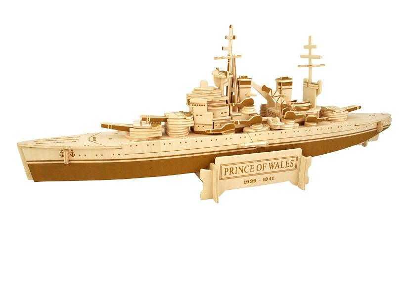Woodcraft Dřevěné 3D puzzle bitevní loď Prince of Wales