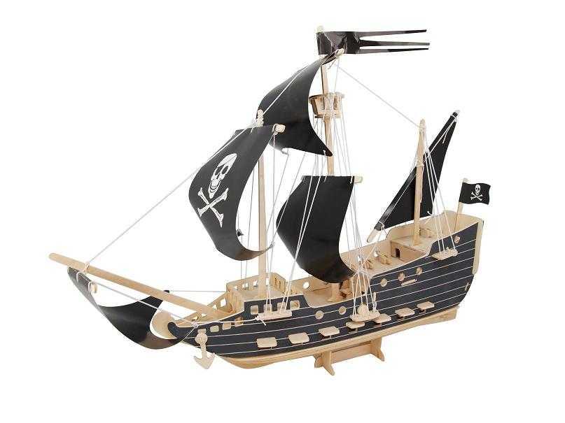 Woodcraft Dřevěné 3D puzzle pirátská loď