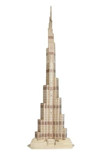Woodcraft Dřevěné 3D puzzle věž Dubaj