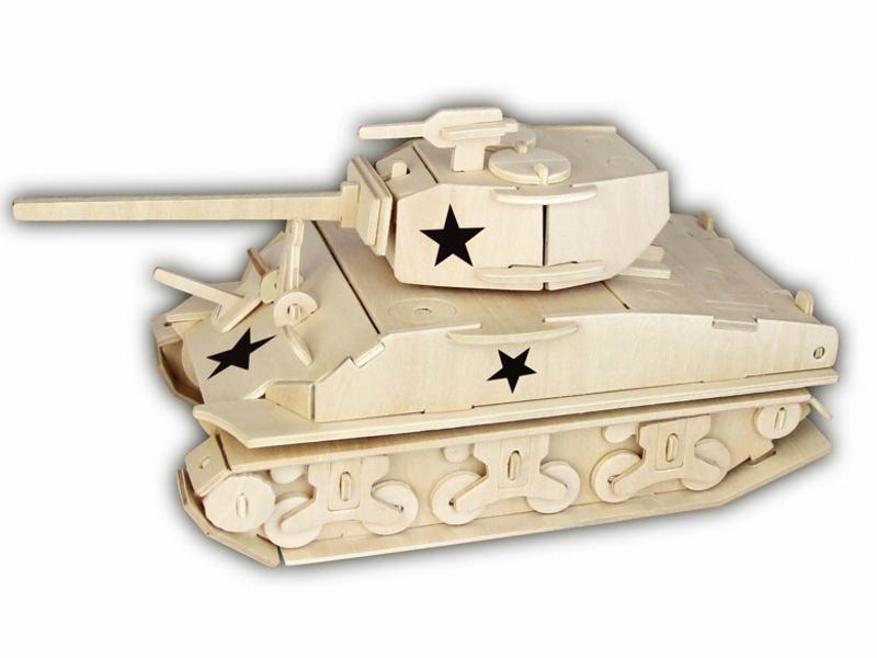 Woodcraft Dřevěné 3D puzzle tank M4 Sherman